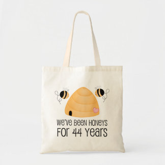 44th Anniversary Couple Gift Tote Bag