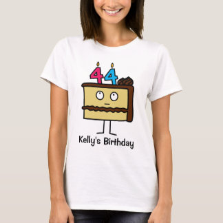 44th Birthday Cake with Candles T-Shirt