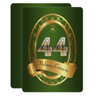 44th,birthday party woman man,elegant color card