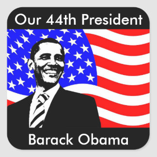 44th President, Barack Obama and Flag Stickers