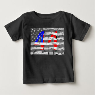 44th President Obama Fan Flag Baby T-Shirt