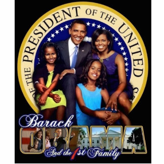 44th Presidential Family Sculpture w/stand Standing Photo Sculpture