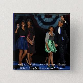 44th USA Presidential Family Square Button