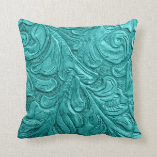 454 Leather Pattern Western Wedding Throw Pillow