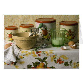 4558 Kitchen Canisters Still Life Card