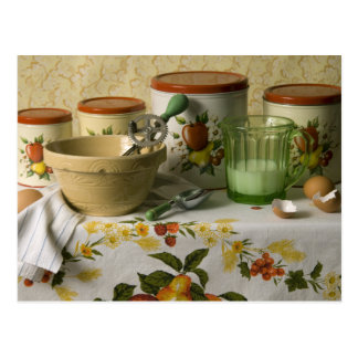 4558 Kitchen Canisters Still Life Postcard