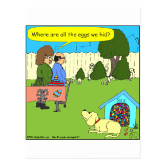 456 Where are the Easter eggs - color cartoon Postcard