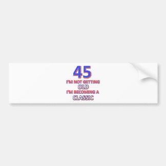 45 birthday designs bumper sticker
