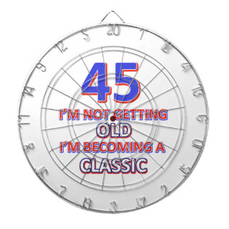 45 birthday designs dartboard