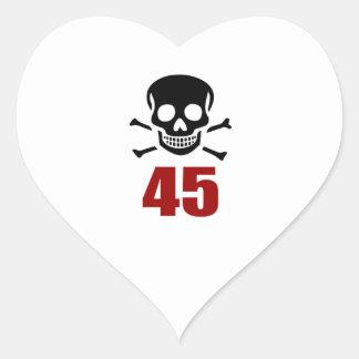 45 Birthday Designs Heart Sticker