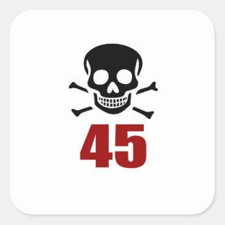 45 Birthday Designs Square Sticker