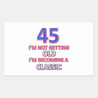 45 birthday designs sticker