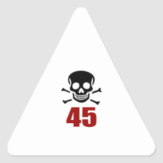 45 Birthday Designs Triangle Sticker