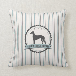 45 mph Lazy Greyhound Retired Racer Throw Pillow