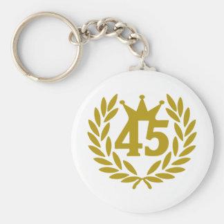 45-real-laurel-crown basic round button keychain