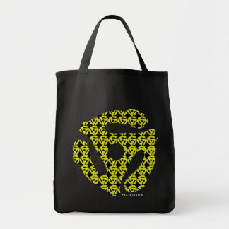45 Record Insert Pattern Tote Bag