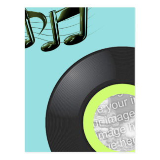 45 RECORD PHOTO FRAME INVITE POSTCARD