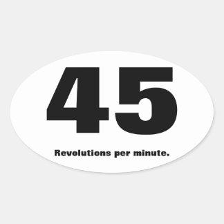 45 rpm parody marathon sticker