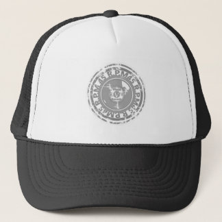 45 RPM. Vinyl Record Black and Grey Worn Trucker Hat