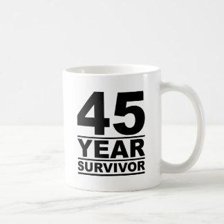 45 year survivor coffee mug