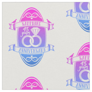 45 Year traditional sapphire 45th  anniversary Fabric