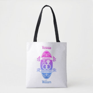 45 Year traditional sapphire 45th  anniversary Tote Bag
