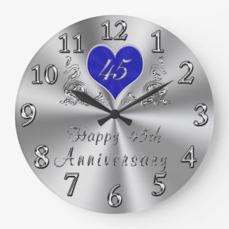 45 Year Wedding Anniversary Gifts Sapphire CLOCK