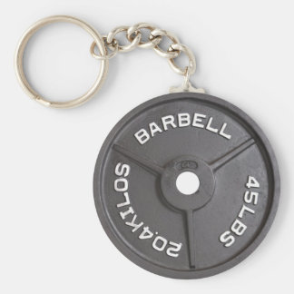45lb Plate - Barbell Keychain