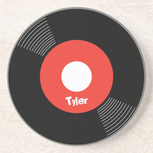 45s Record Coaster (Red) CUSTOMIZABLE