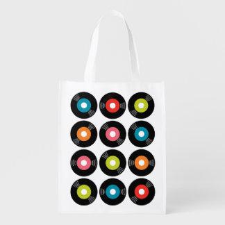 45s Record Reusable Grocery Bag