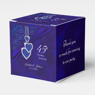 45th / 65th Sapphire Wedding Anniversary Favor Box