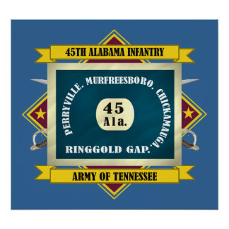 45th Alabama Infantry (F3) Poster