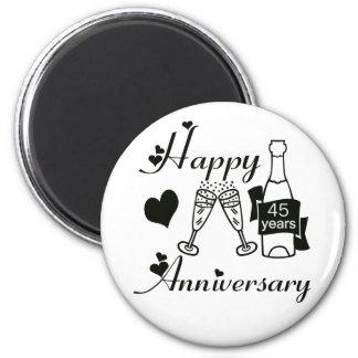 45th. Anniversary 2 Inch Round Magnet