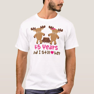45th Anniversary Gift For Him T-Shirt