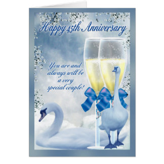 45th Anniversary - Sapphire Anniversary Card