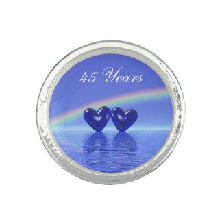 45th Anniversary Sapphire Hearts Photo Ring