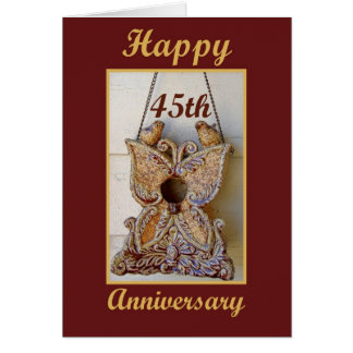 45th Anniversary with Love Birds Card