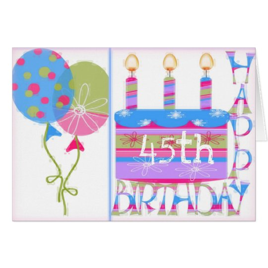 45th Birthday Greeting Card for Woman
