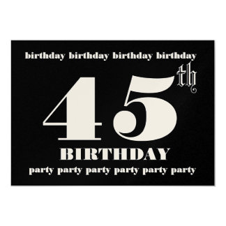 45th Birthday Party Invitation Template