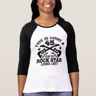 45th Birthday Rock Star T-Shirt