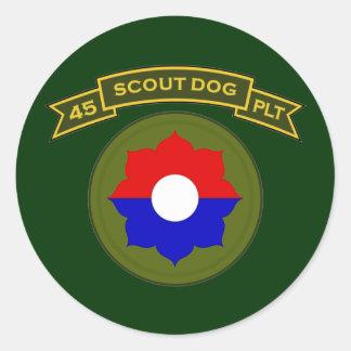 45th IPSD - 9th Infantry Round Sticker