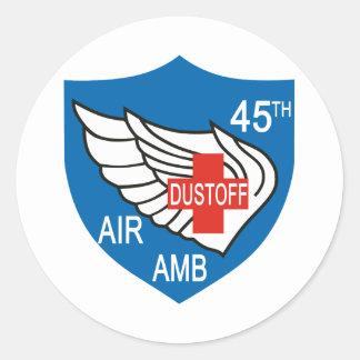 45th Medical Dustoff Patch Round Sticker