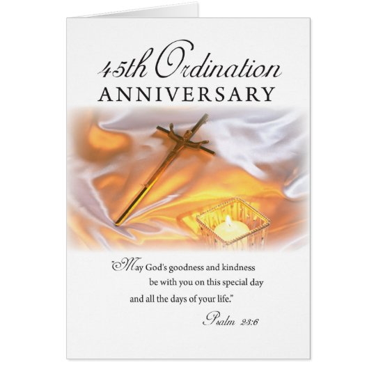 45th Ordination Anniversary, Cross Candle Card