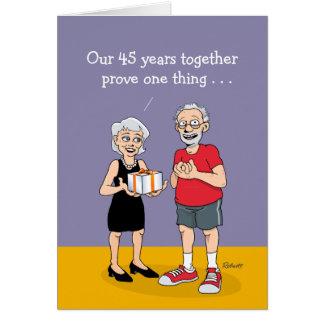 45th Wedding Anniversary Card: Love Card