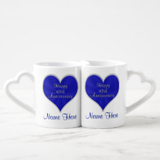 45th Wedding Anniversary Gifts for Parents, Couple Coffee Mug Set