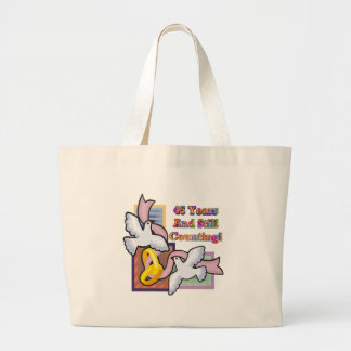 45th wedding anniversary gt large tote bag