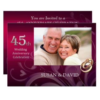 45th Wedding Anniversary Party Invitations