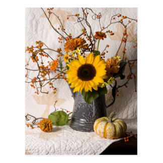 4663 Autumn Floral Postcard