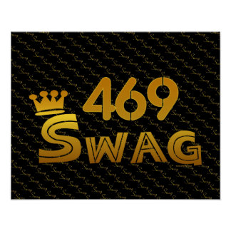 469 Area Code Swag Print