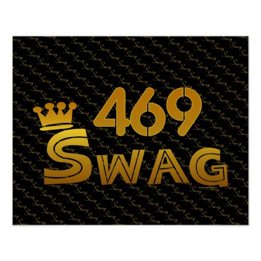 469 Area Code Swag Print
